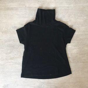 Black turtleneck t shirt